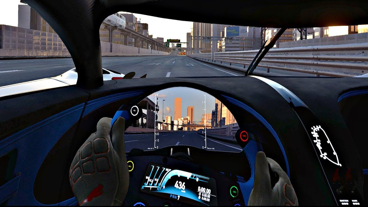 gran turismo sport - bugatti chiron vision gt top speed 450 km/h