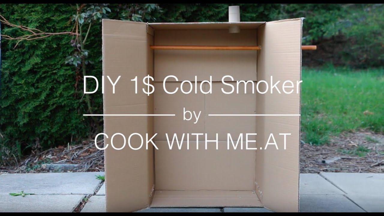 Homemade wooden meat smoker youtube - Diy 1 Cold Smoker Video Tutorial Galileo Special Cook With Me At Youtube