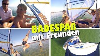 Badespaß Action mit Freunden 😄 Sommerferien Fun am Strand 😁 TipTapTube Family Vlog  👨👩👦👦