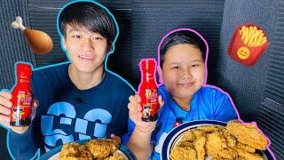 | ASMR eating | KFC ซอสเกาหลีเผ็ด x2 | F. Boss Chewy