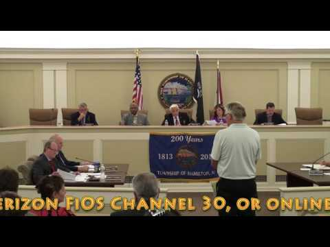 June 6, 2016 - Township of Hamilton Committee Meeting