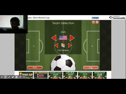 Play Football Heads: 2014 World Cup - Free Online Game On Dvadi.com