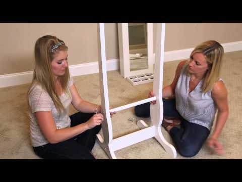 How To Assemble a Jewelry Mirror from FactoryBunkBeds.com