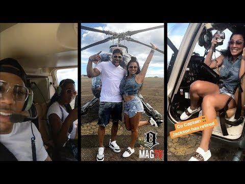 Nelly & Girlfriend Shantel Go For A Hawaiian Ride On The
