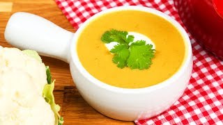 Curried Cauliflower Soup | #Homemade