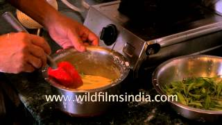 Chef prepares Glenburn Tea-leaf Pakoras