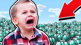 STEALING DIAMONDS FROM KIDS ON MINECRAFT! thumbnail