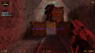 ZOMBIE ESCAPE ROUND ON COUNTER-STRIKE: 1.6, map: ze_cave_v2,  CS 1.6
