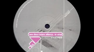 New Disco Science Alliance ‎– Or What! (Original Mix)