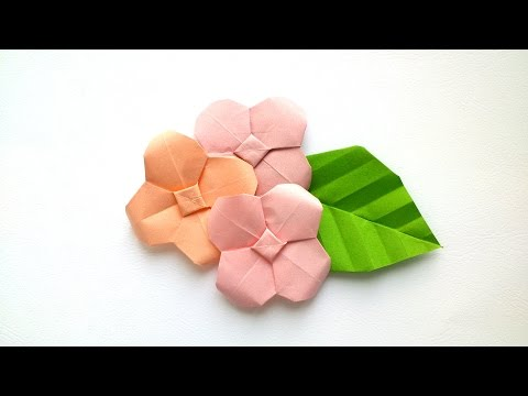 How to make Origami Hydrangea - Origami Flowers