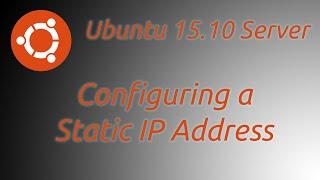 How to a Set Up Static IP Ubun…