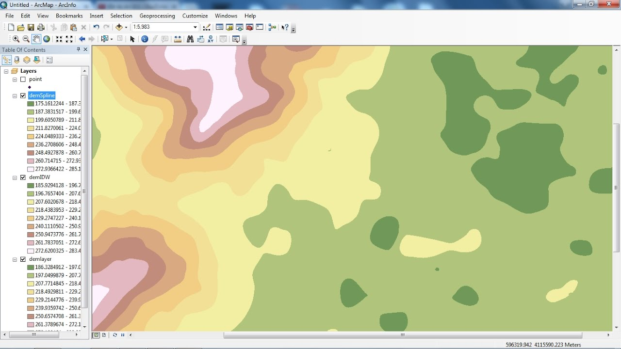 create DEM from points in ArcGIS