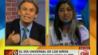 Presidenta por un día: Entrevista a Camila Zapata en CNÑ - #DíaMundialDeLosNiños 🔵 | UNICEF