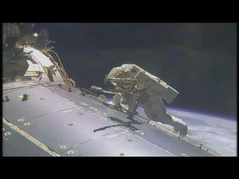 Space Station Crew Conducts Milestone Spacewalk