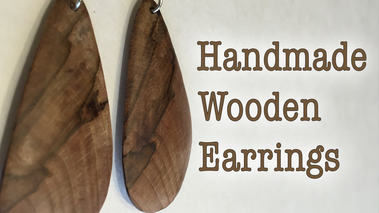Diy Handmade Wooden Earrings