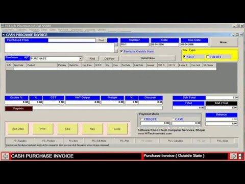 Medical Store Accounting Software Release YouTube - Free invoicing and accounting software online watch store