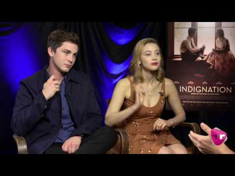 Logan Lerman and Sarah Gadon  'Indignation' interview