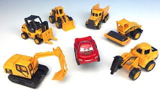 CONSTRUCTION METAL MINI MIGHTY MACHINES ON THE JOBSITE DRILL FORKLIFT DUMP TRUCK EXCAVATOR