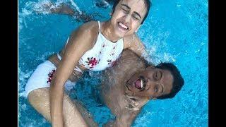 स्विमिङ पुलमा निश्चल र स्वस्तिमा मस्ती गर्दै || Swastima Khadka And Nischal Basnet In Swimming Pool