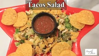 2 Minute Tacos Salad | Quick And Easy | Vegetarian Salad | Simply Jain