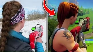 Top 10 Fortnite Weapons IN REAL LIFE! (Fortnite Battle Royale Season 4)