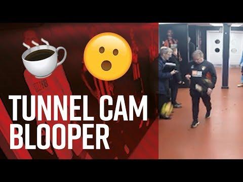 ⚠️ Warning: Flying footballs 😮   AFC Bournemouth v Newcastle tunnel cam