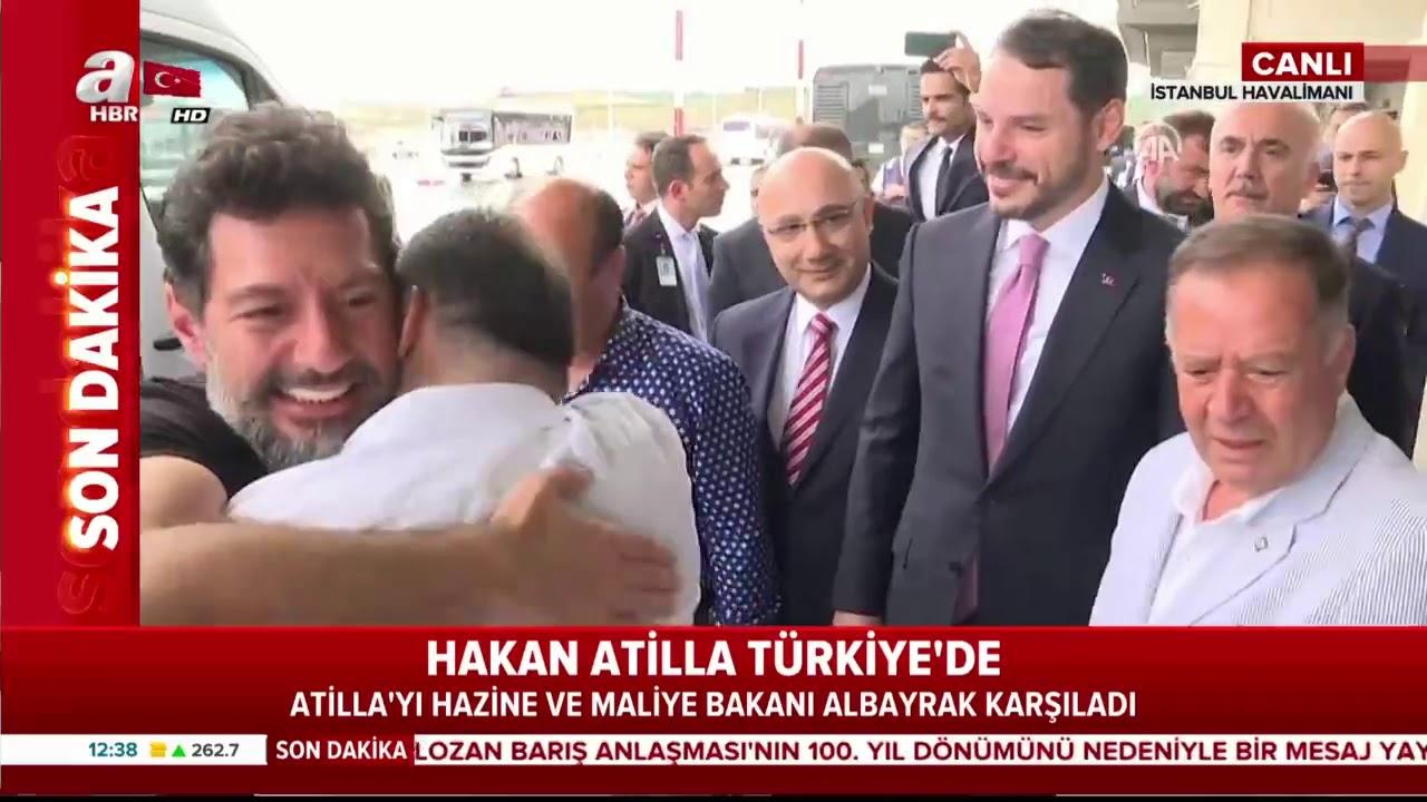 SON DAKİKA Hakan Atilla Türkiye'de! Ailesi ve Bakan Albayrak karşıladı