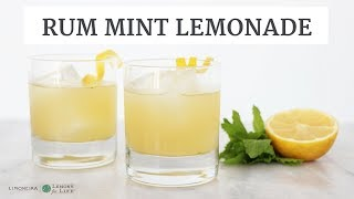Rum Mint Lemonade | Easy Lemon Cocktail & Beverage Recipe | Limoneira