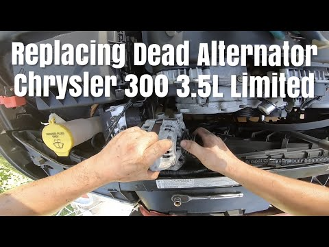 How To Replace a Dead Alternator on a Chrysler 300 3.5L Limited easy way