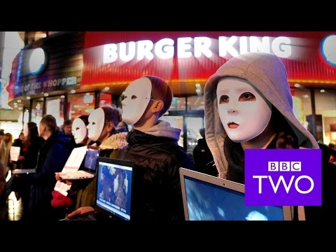 FILMING MASKED VEGANS WITH THE BBC