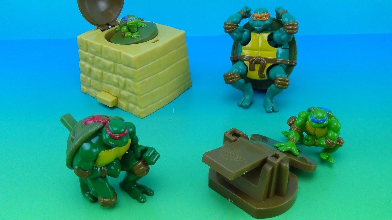 Teenage Mutant Ninja Turtles 2007 Jollibee Toy Collection Youtube