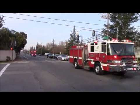 More Q & Horn! - Sacramento Metro Fire District Engine & Medic 24 Responding Code 3 + Truck 23