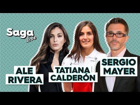 #SagaLive Ale Rivera, Tatiana Calderón y Sergio Mayer con Adela Micha