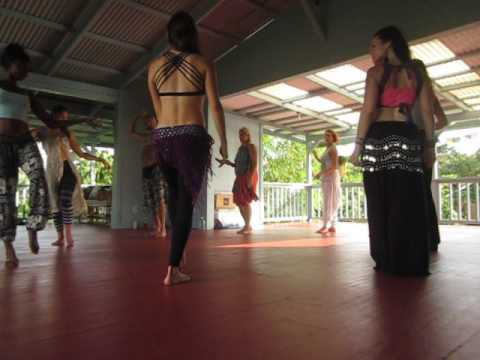 Belly Dance Instruction with Amanda at KMEC (Kirpal Meditation and Ecological Center)