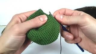 Динозавр крючком. Вязаные игрушки.Вязание для начинающих. Crochet dino.(Урок 2 Тело, хвост)