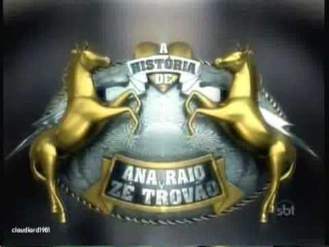 A História de Ana Raio e Zé Trovão | Vinheta de Abertura com nova logomarca da novela | SBT 2010