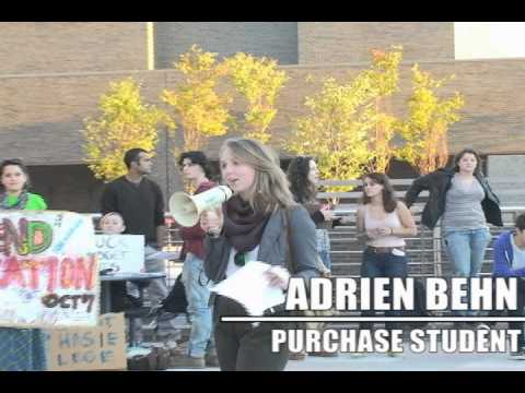 Purchase College Students Protest Tuition Increases by New York State