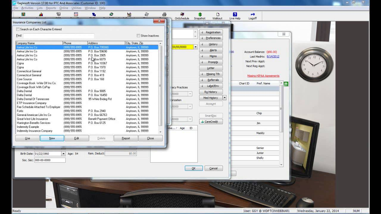 New Patient Setup Eaglesoft V16 Tutorial Youtube