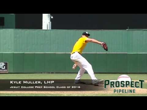 Kyle Muller, LHP, Jesuit College Prep School, Pitching Mechanics at 200 FPS
