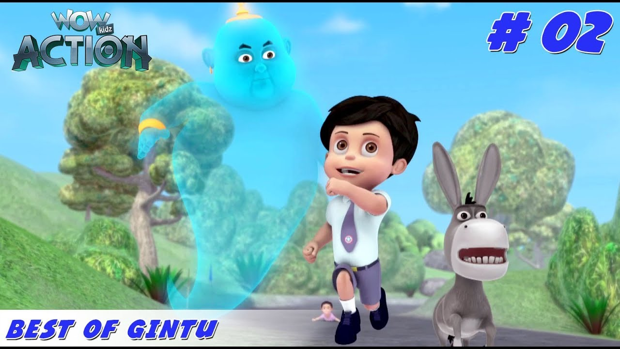 Best of Gintu - Part 2 | Vir the Robot Boy | Mixed Gags for kids | WowKidz Action