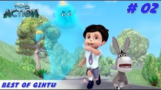 Best of Gintu - Part 2 | Vir the Robot Boy | Mixed Gags for kids | WowKidz Action