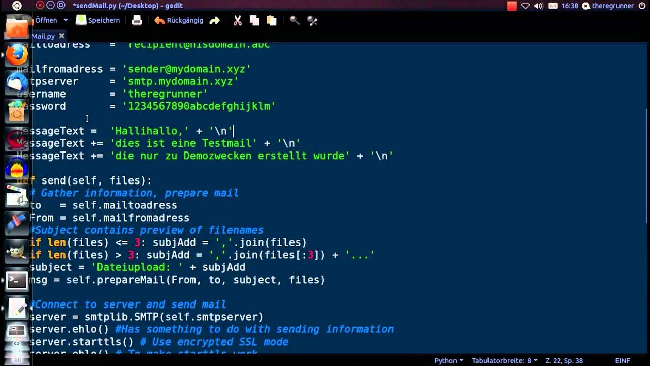 python : send Mail + attach File(s)