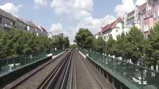 U-Bahn Berlin - U2 Führerstandsmitfahrt / Cab Ride: Ruhleben - Pankow