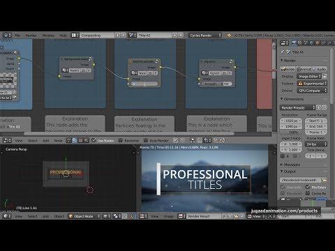 25 Professional Titles for Blender - Video Training Tutorial