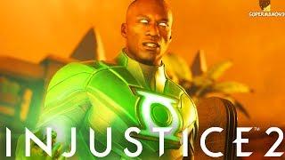 """JOHN STEWART GREEN LANTERN IS AMAZING! - Injustice 2 """"Green Lantern"""" Gameplay"""