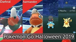Catching mythical Darkrai and Halloween custome starter pokemon.