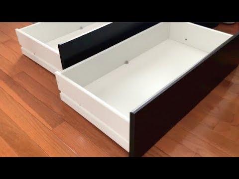 How To Assemblebuild IKEA Dresser Drawers  FAST U0026 EASY Easy Assemble Dresser L64