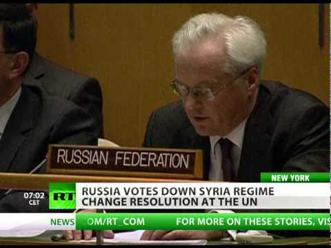 Russia votes down Syria 'regime change' resolution