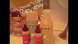 {Mrs. Meyer's Clean Day- Review!} Thumbnail