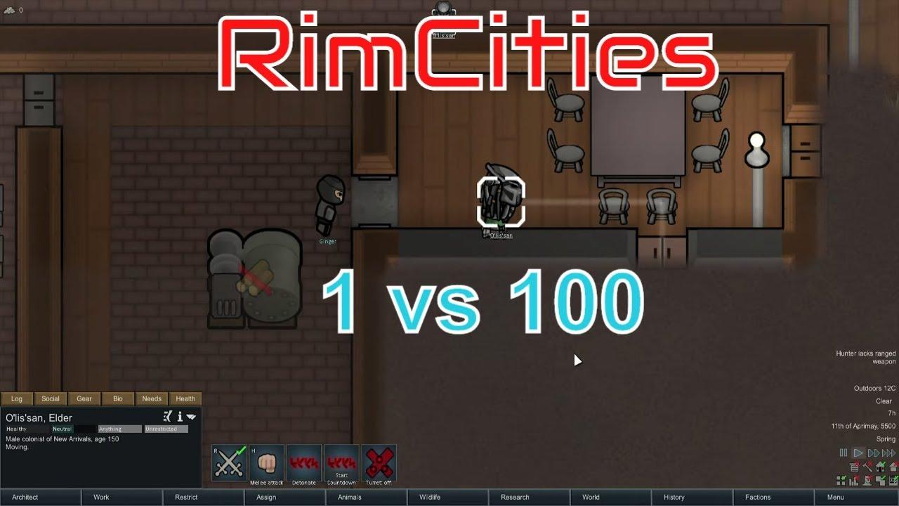 Rimworld Rimcities mod | Predator vs a city series idea